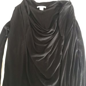 Black long sleeve cowl neck top